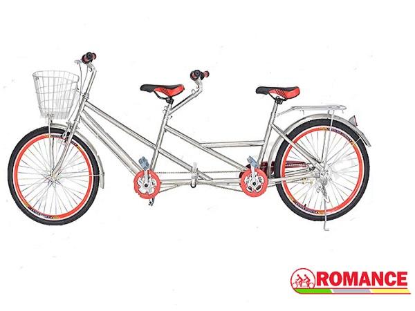 xe đạp đôi inox
