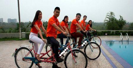 FPT Software Hà Nội mua 30 chiếc xe đạp đôi cho nhân dạo quanh văn phòng