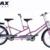 xe đạp đôi pax 8p màu hồng