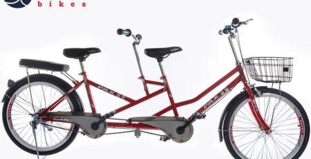 xe đạp đôi pax 8r màu đỏ